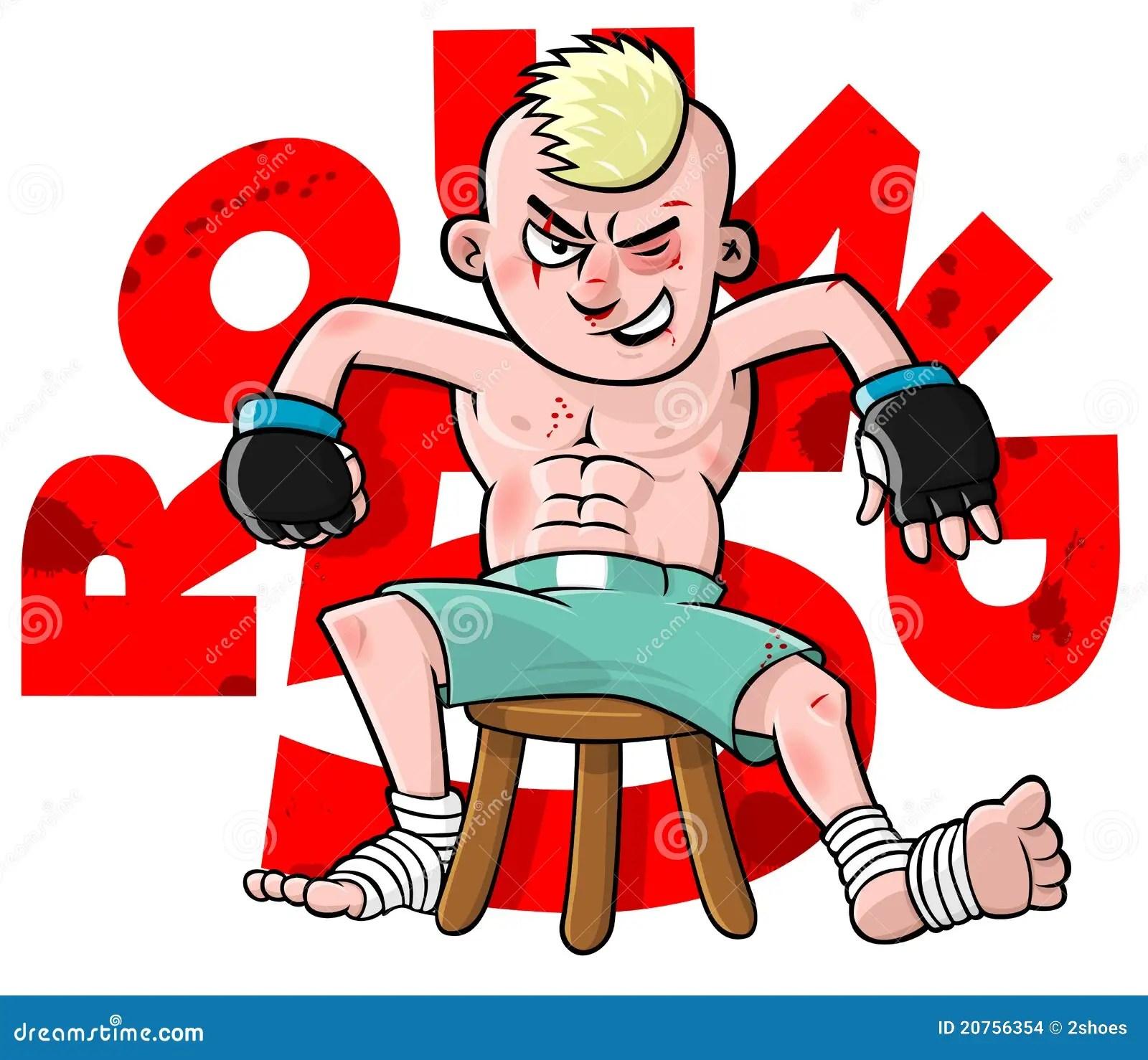 Cartoon MMA Fighter Stock Vector Image Of Fitness