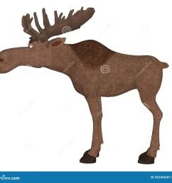 cartoon moose [ 1300 x 1173 Pixel ]