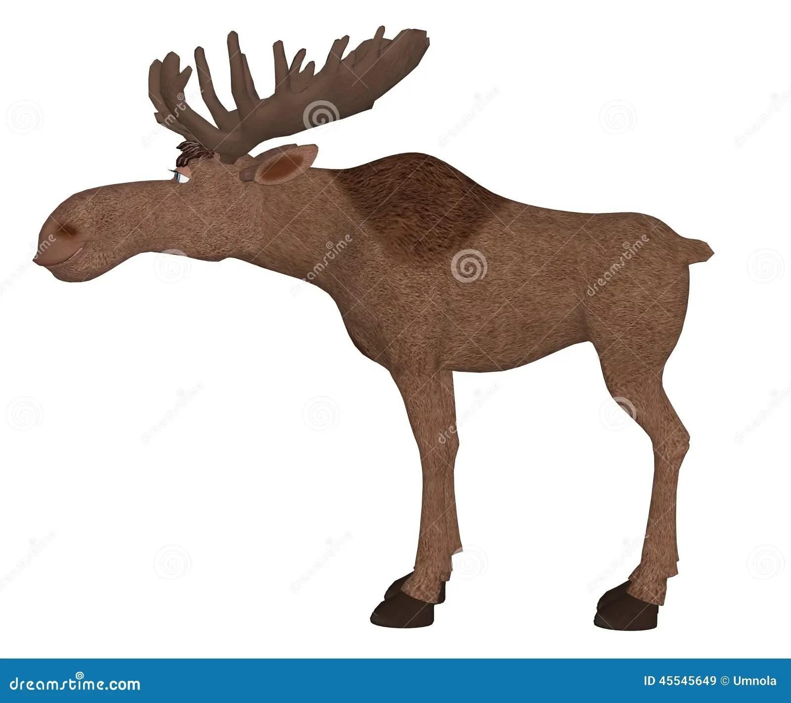 hight resolution of cartoon moose