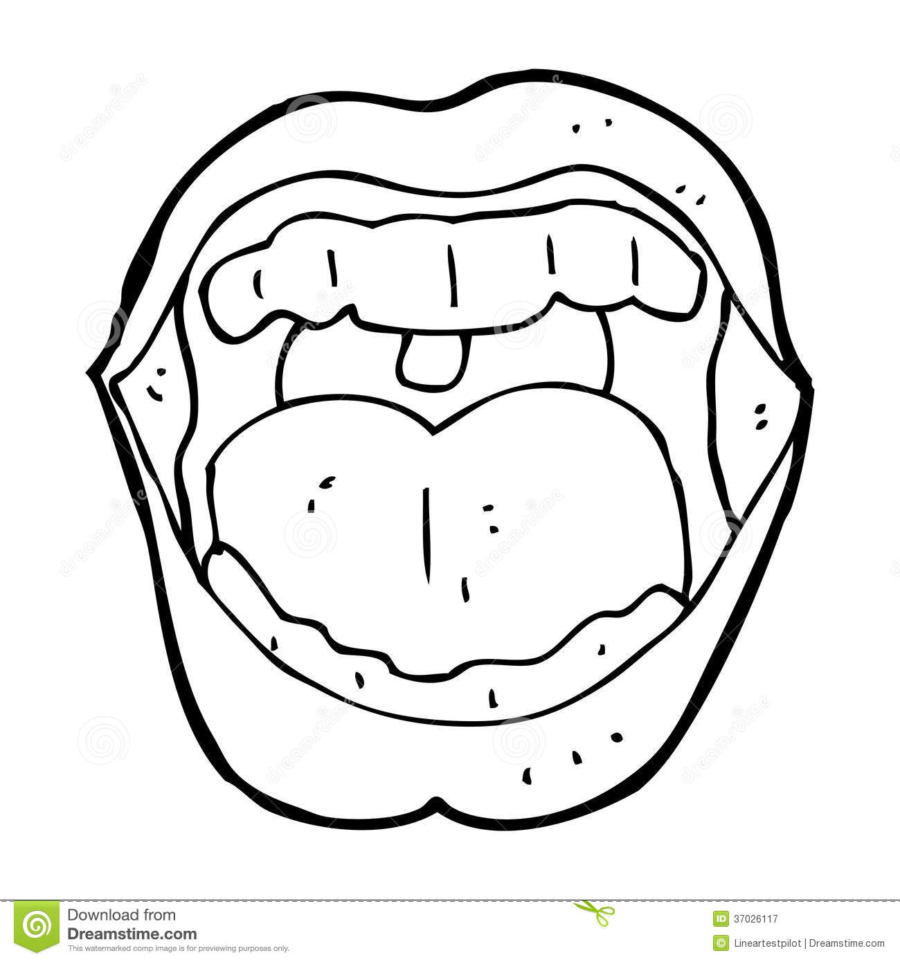Cartoon Mouth Royalty Free Stock Photography