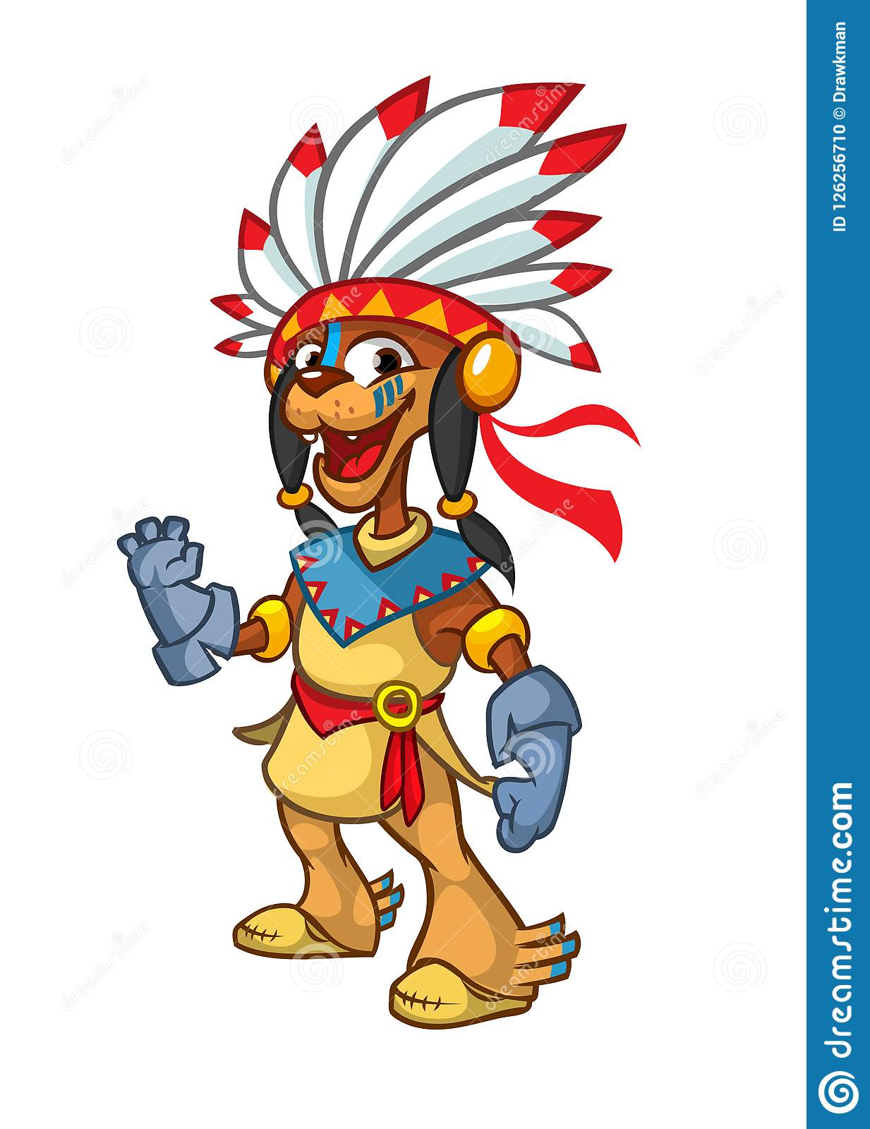 hight resolution of cartoon native american indian character illustration clipart