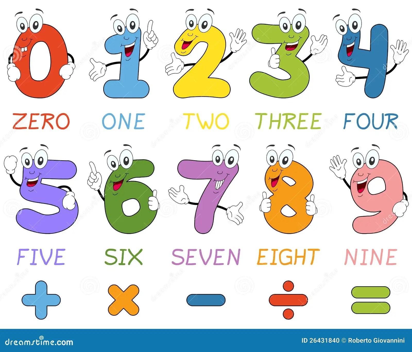 Cartoon Numbers Clip Art Cliparts