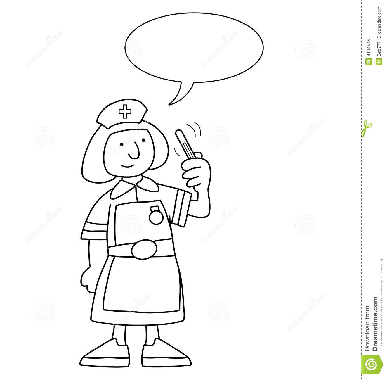 Cartoon Nurse stock vector. Image of drawing, isolated