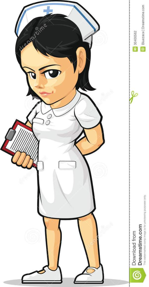 cartoon of nurse stock