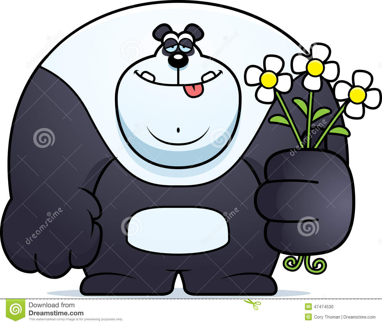panda bear diagram wiring diagrams for a half hot switched outlet cartoon flowers stock vector illustration of