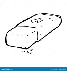 Cartoon pencil eraser stock illustration Illustration of eraser 37028005