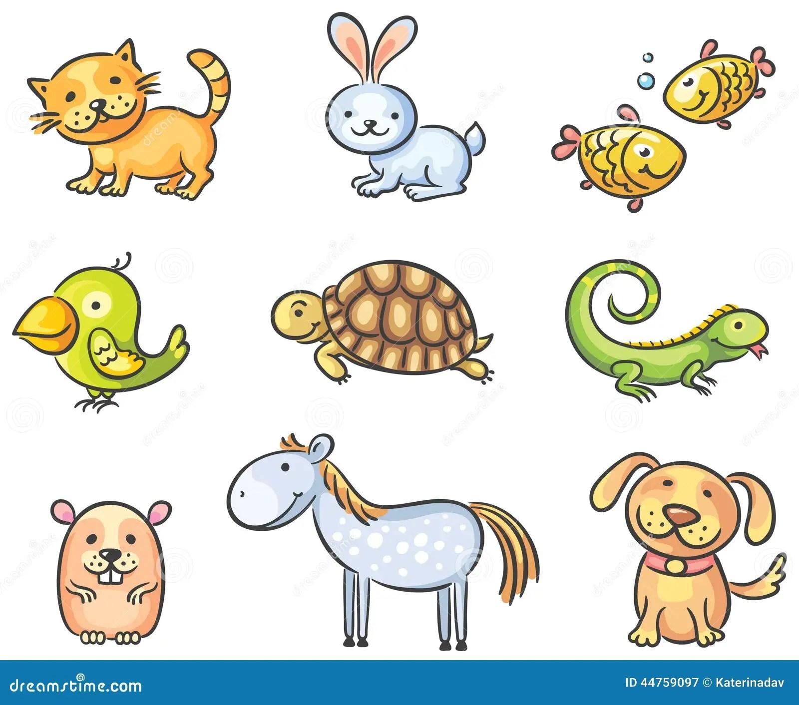 cartoon pet animals stock