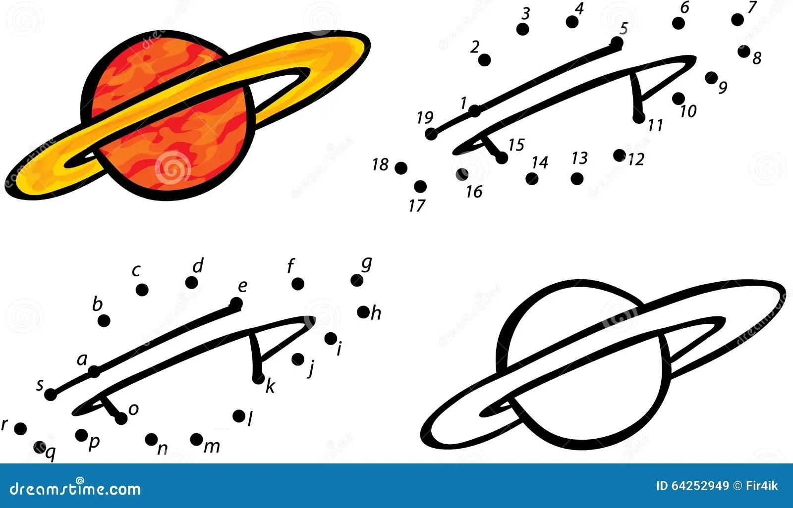 Cartoon Planet Jupiter Vector Illustration Coloring And