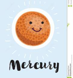 cartoon planet mercury vector clip art illustration with simple gradients all in a single layer  [ 1089 x 1300 Pixel ]