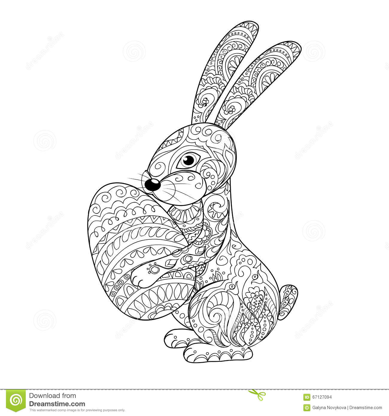 Easter Rabbit Coloring Cartoon Coloring Pages