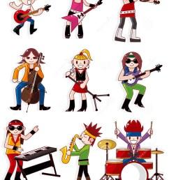 cartoon rock band icon [ 1069 x 1300 Pixel ]
