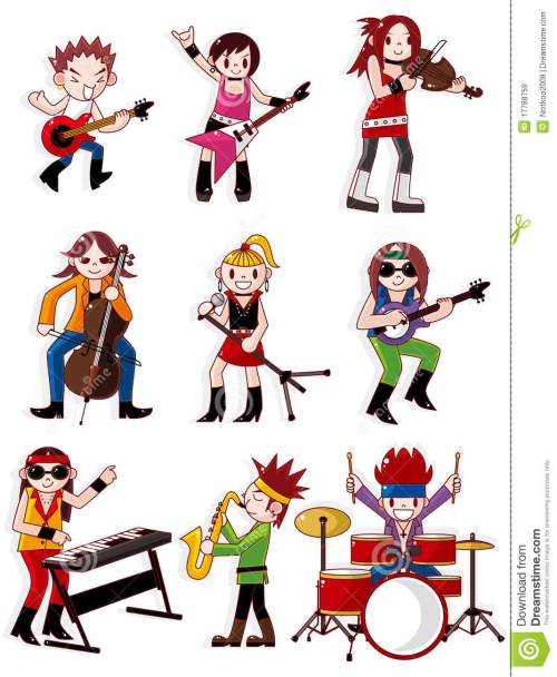 small resolution of cartoon rock band icon
