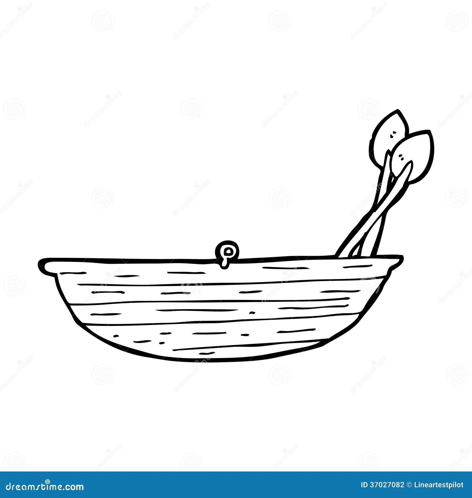 Cartoon Rowing Boat Stock Illustration Illustration Of