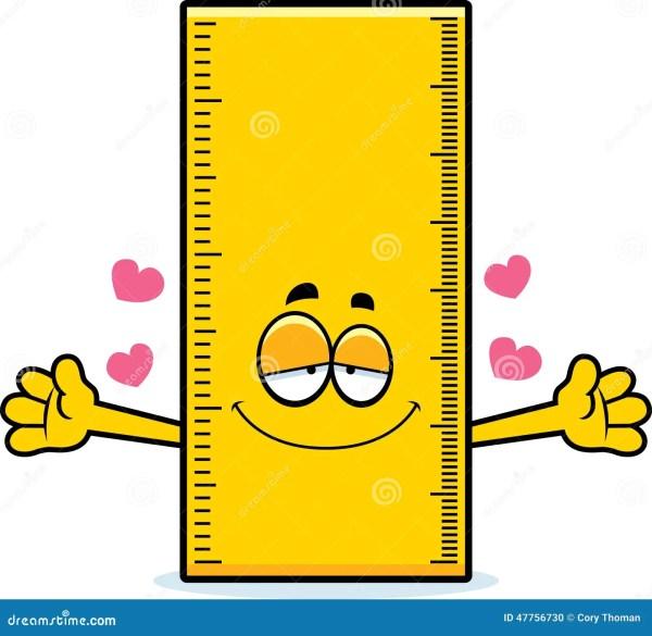 Cartoon Ruler Hug Stock Vector - 47756730