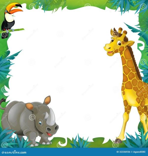 Jungle Safari Border Clip Art