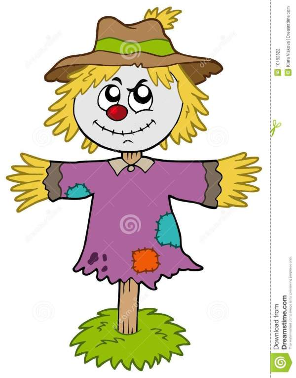 cartoon scarecrow stock vector