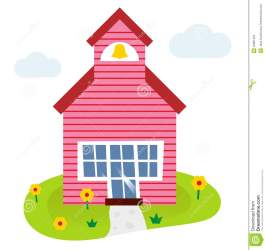 cartoon building illustration vector clip royalty schoolhouse tower clipart bell summer illustrations scholastic gograph graphic educations canstockphoto dreamstime