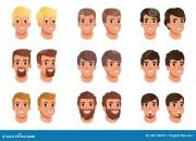 cartoon set of men avatars