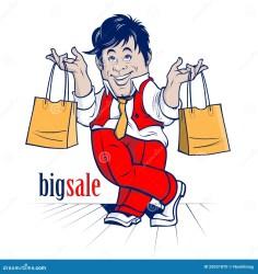 cartoon shopping character characters