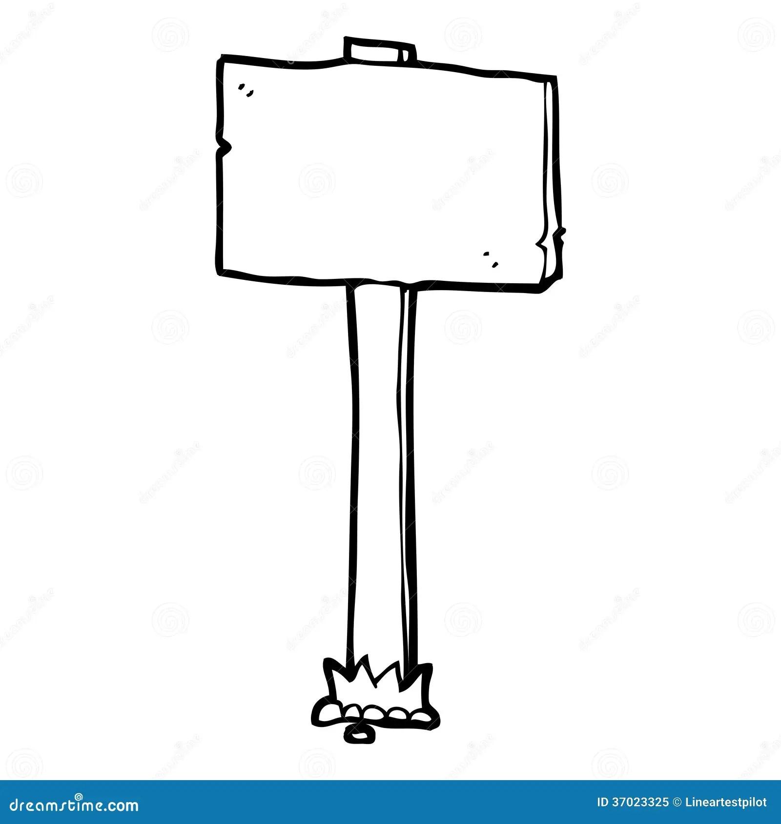 Cartoon Signpost Stock Illustration Illustration Of