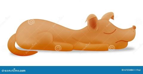 dog cartoon sleeping side