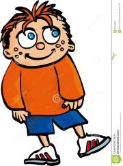 cartoon smiling boy with red hair