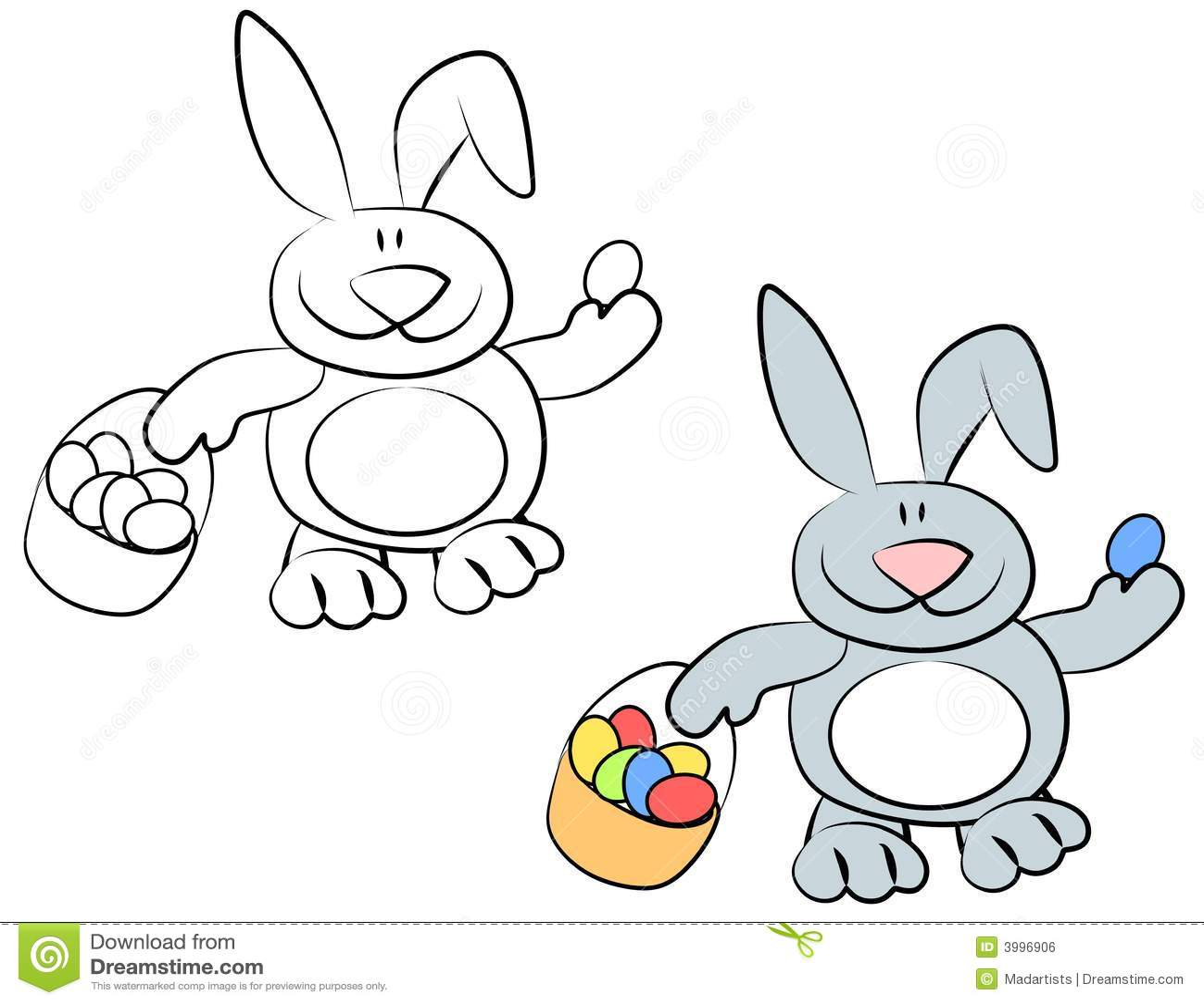 Cartoon Smiling Easter Bunny Rabbits Royalty Free Stock