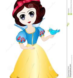 vector illustration clipart cartoon cute snow white  [ 1065 x 1300 Pixel ]