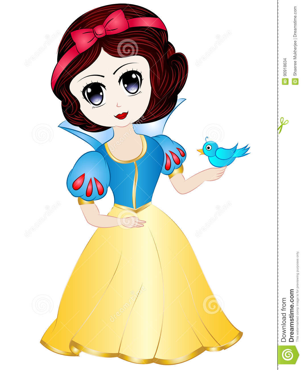 hight resolution of vector illustration clipart cartoon cute snow white