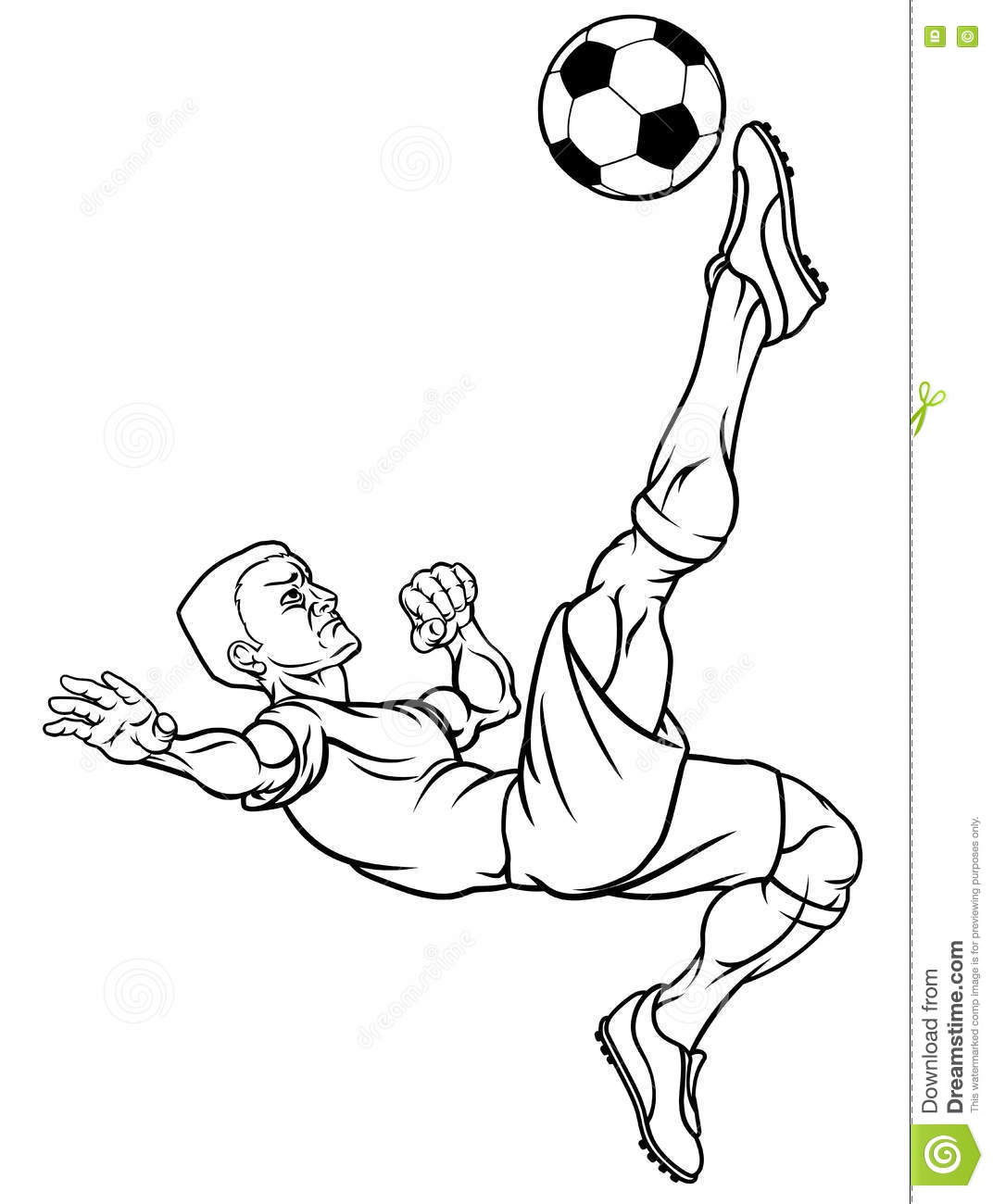 Caucasian Cartoon Football Man Cartoon Vector