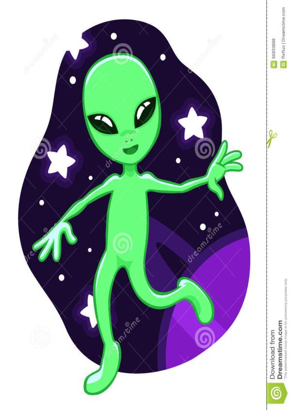 Cartoon Space Alien Stock Vector. Illustration Of