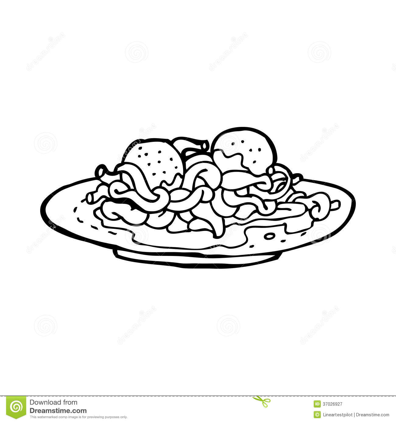 Spaghetti And Meatballs Coloring Pages