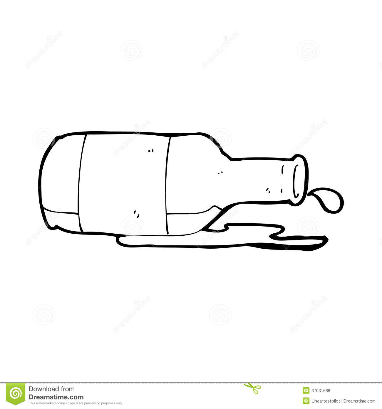 Cartoon Spilled Beer Royalty Free Stock Image