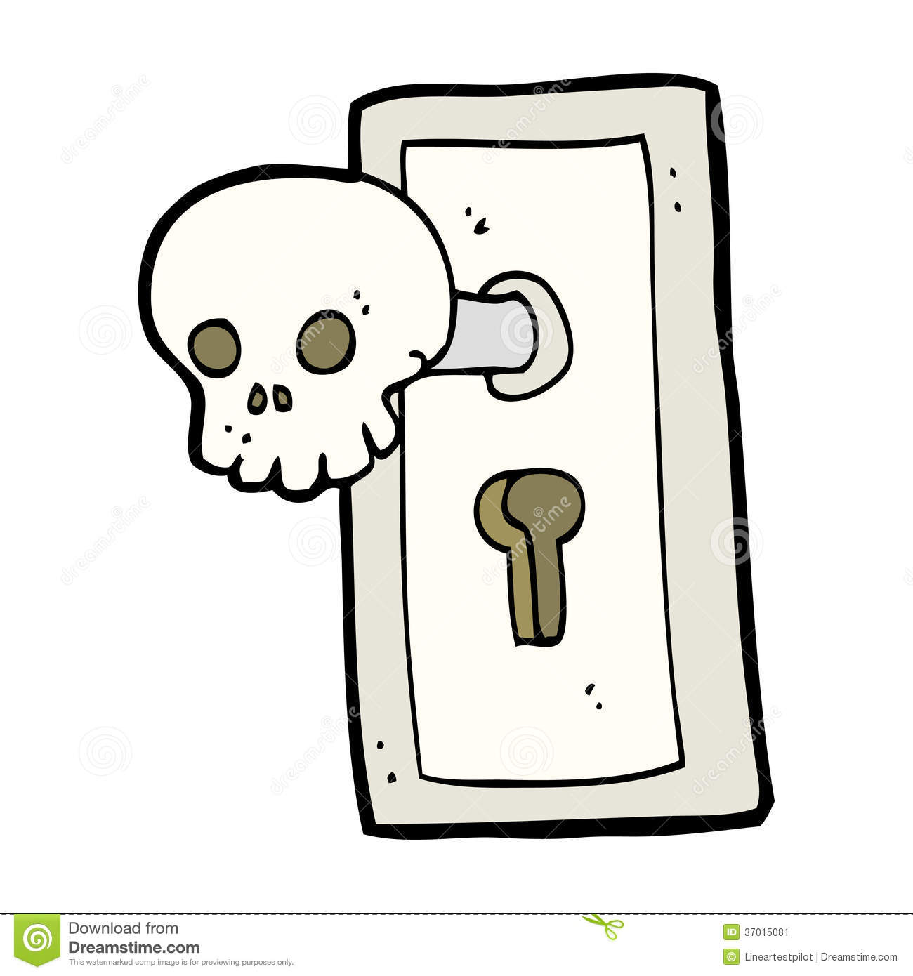 Cartoon Spooky Door Knob Stock Vector Image Of Silly