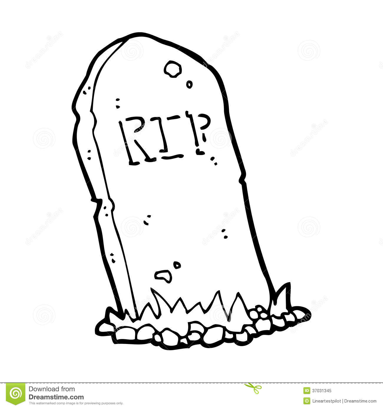 Cartoon Spooky Grave Stock Illustration Image Of Silly