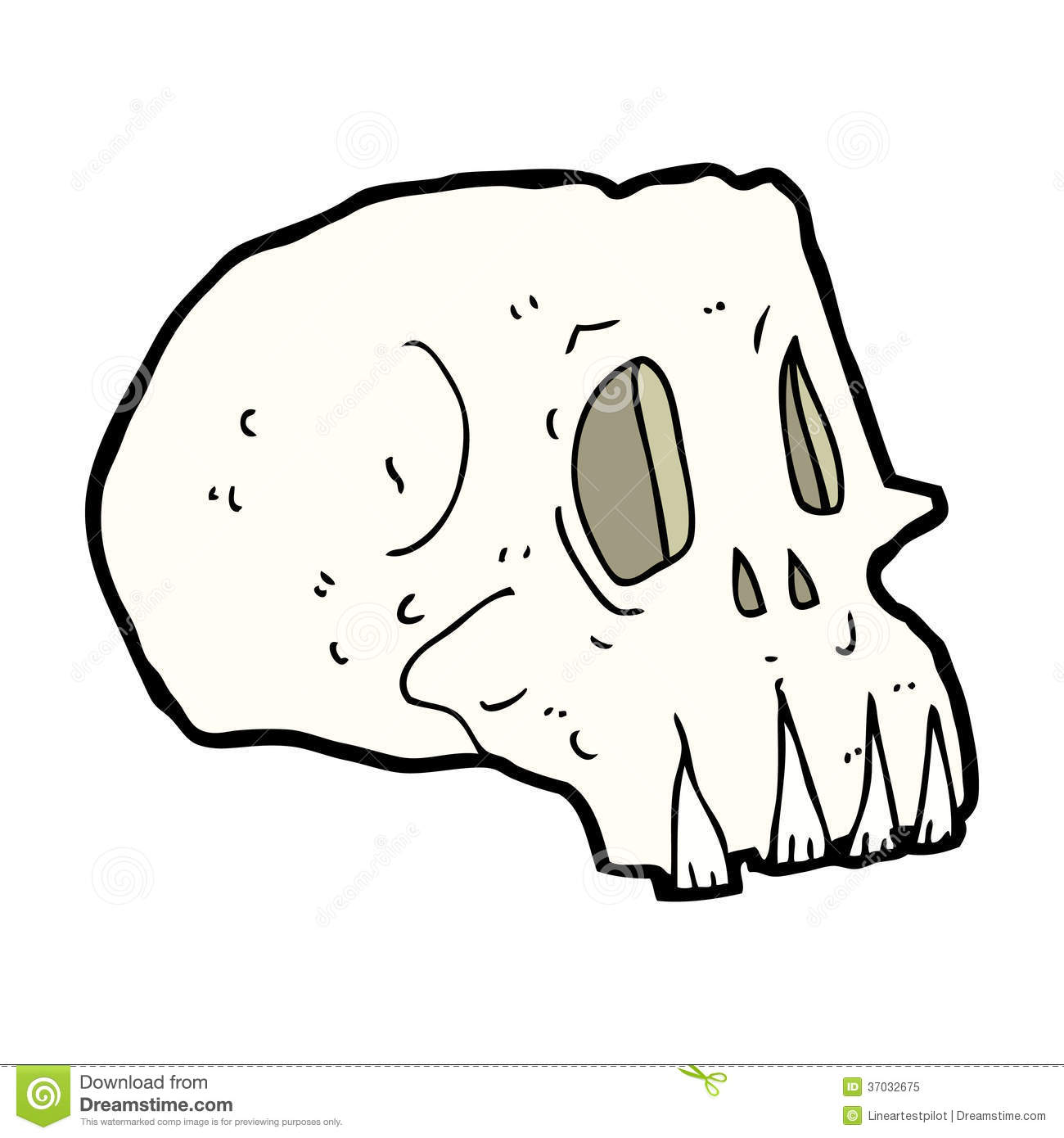 Cartoon Spooky Skull Royalty Free Stock Photo