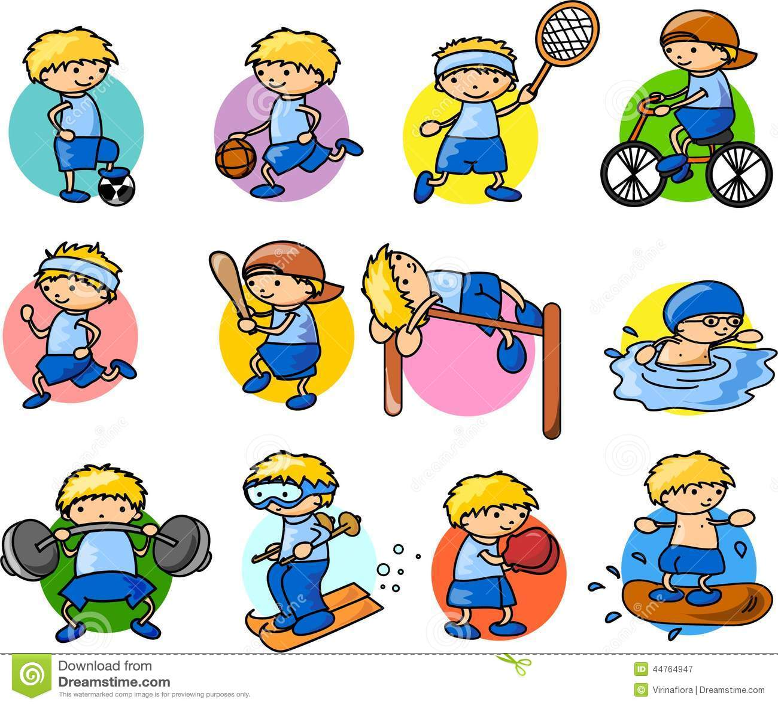 Cartoon Sport Icon.vector Stock Illustration - Image: 44764947