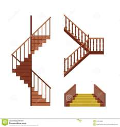 stairs cartoon vector flat stair