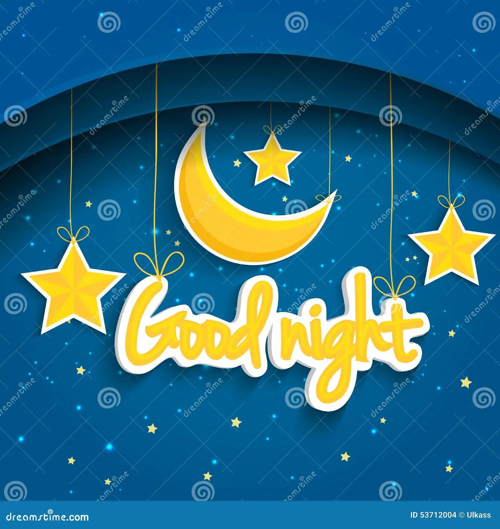 Good Afternoon Cute Wallpaper Cartoon Star And Moon Wishing Good Night Vector