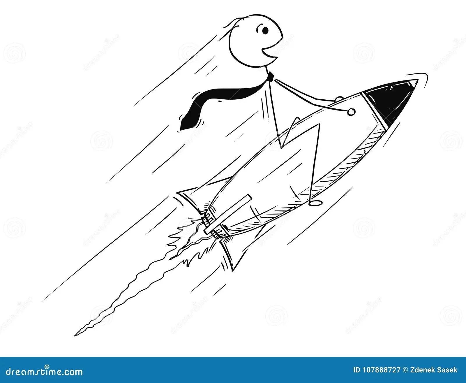 Conceptual Cartoon Of Business Success Stock Vector