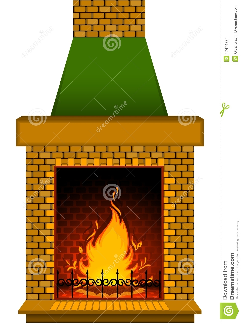 Cartoon Stone Fire Place Stock Images Image 17474774