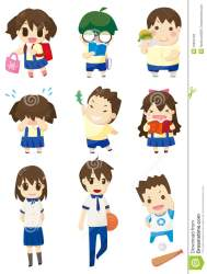 student cartoon icon drawing preview vector dreamstime