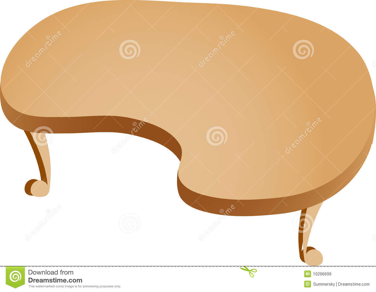 old wooden desk chair round and a half swivel cartoon table stock illustration. image of history, illustration - 10296699
