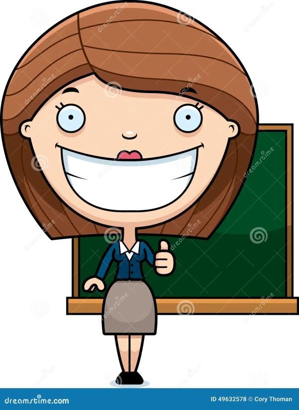 Cartoon Teacher Thumbs Stock Vector. Illustration Of