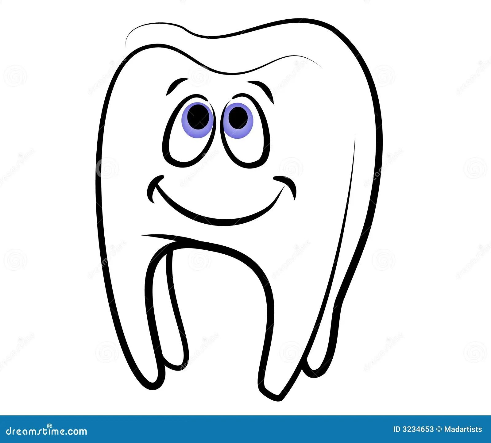 Cartoon Tooth Dental Clip Art Stock Illustration