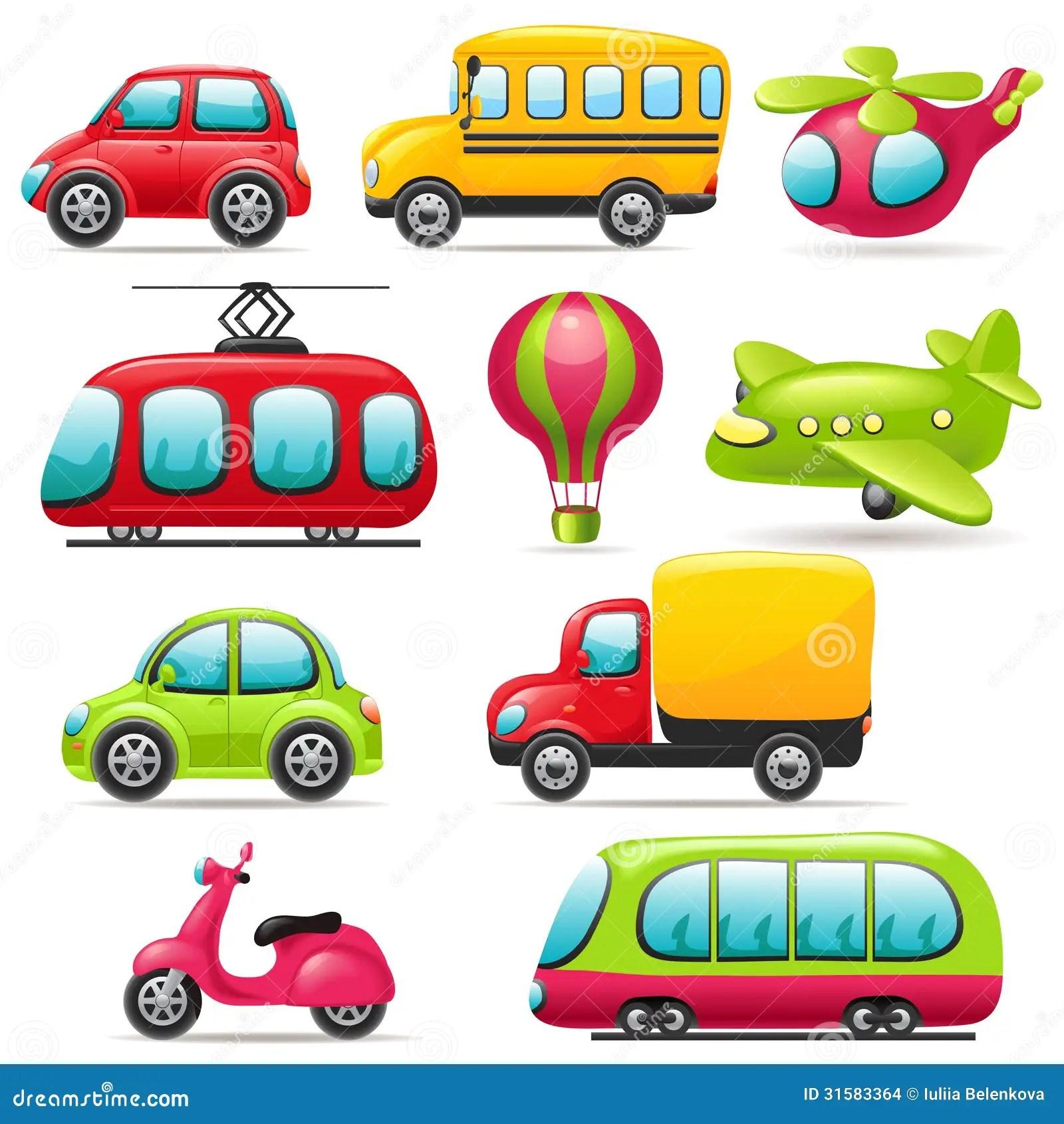 Cartoon Transport Set Stock Vector Illustration Of