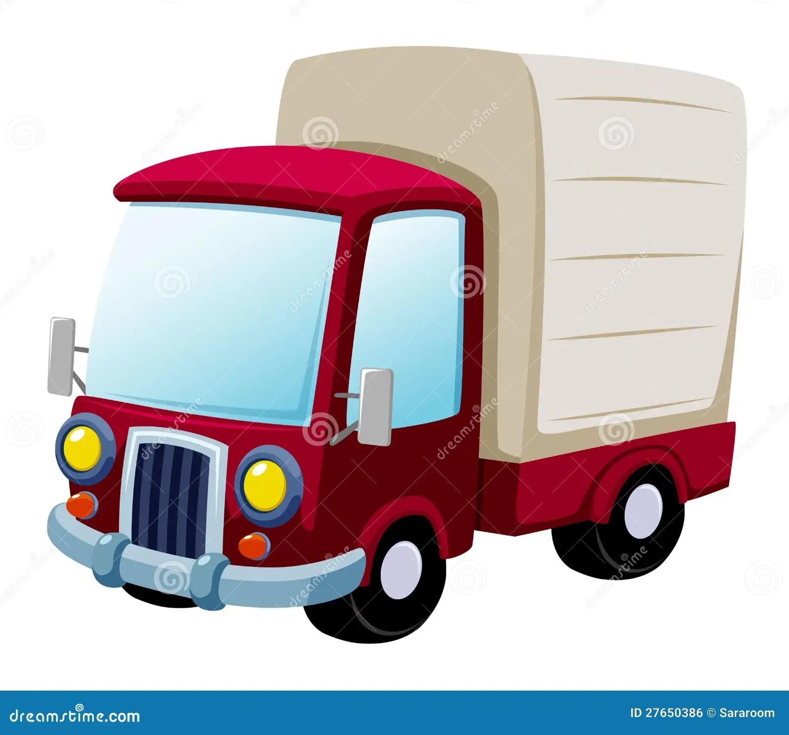 Cartoon Truck Stock Vector Image Of Lorry, Semi, Traffic