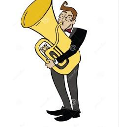 musician playing a tuba  [ 1158 x 1300 Pixel ]