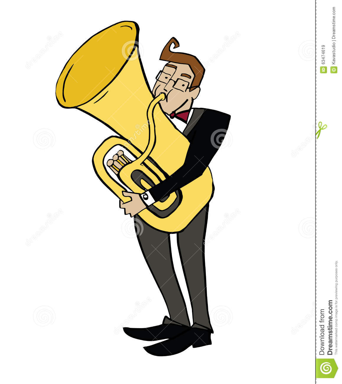 hight resolution of musician playing a tuba