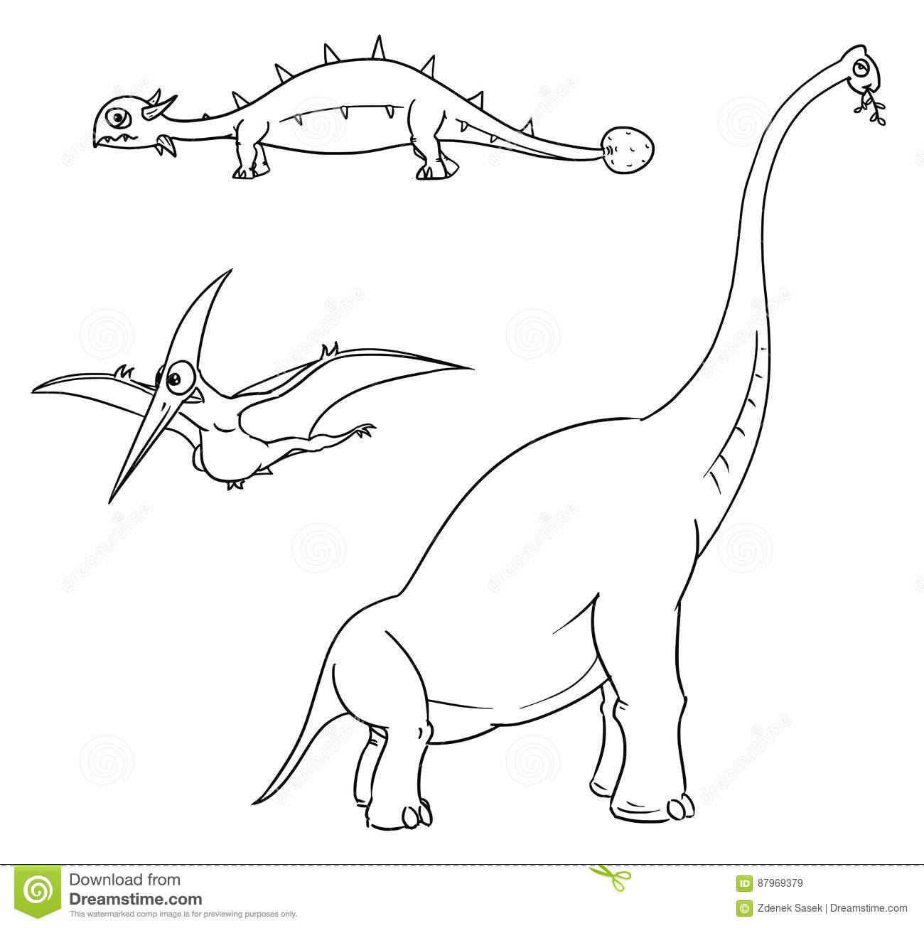 Cartoon Pterodactylus Cartoon Vector
